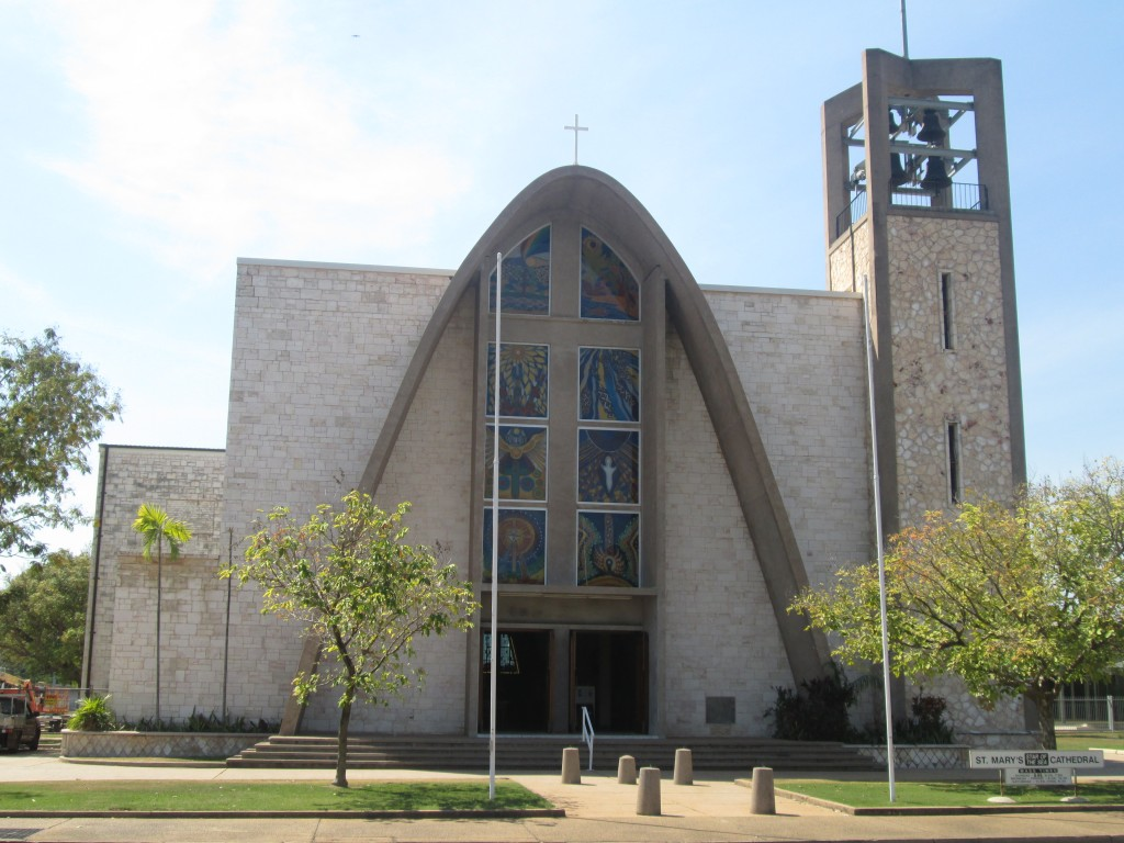 All ceilings inside painting and all painting and repairs to external walls and roof areas, project copleted 2014, St. mary Cathedral, Darwin NT