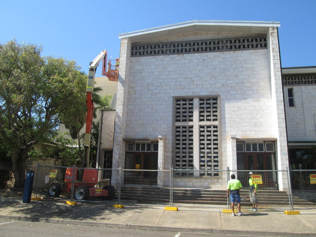 All ceilings inside painting and all painting and repairs to external walls and roof areas, project copleted 2014, St. mary Cathedral, Darwin NT....