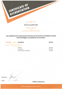 Certificate of accreditation1